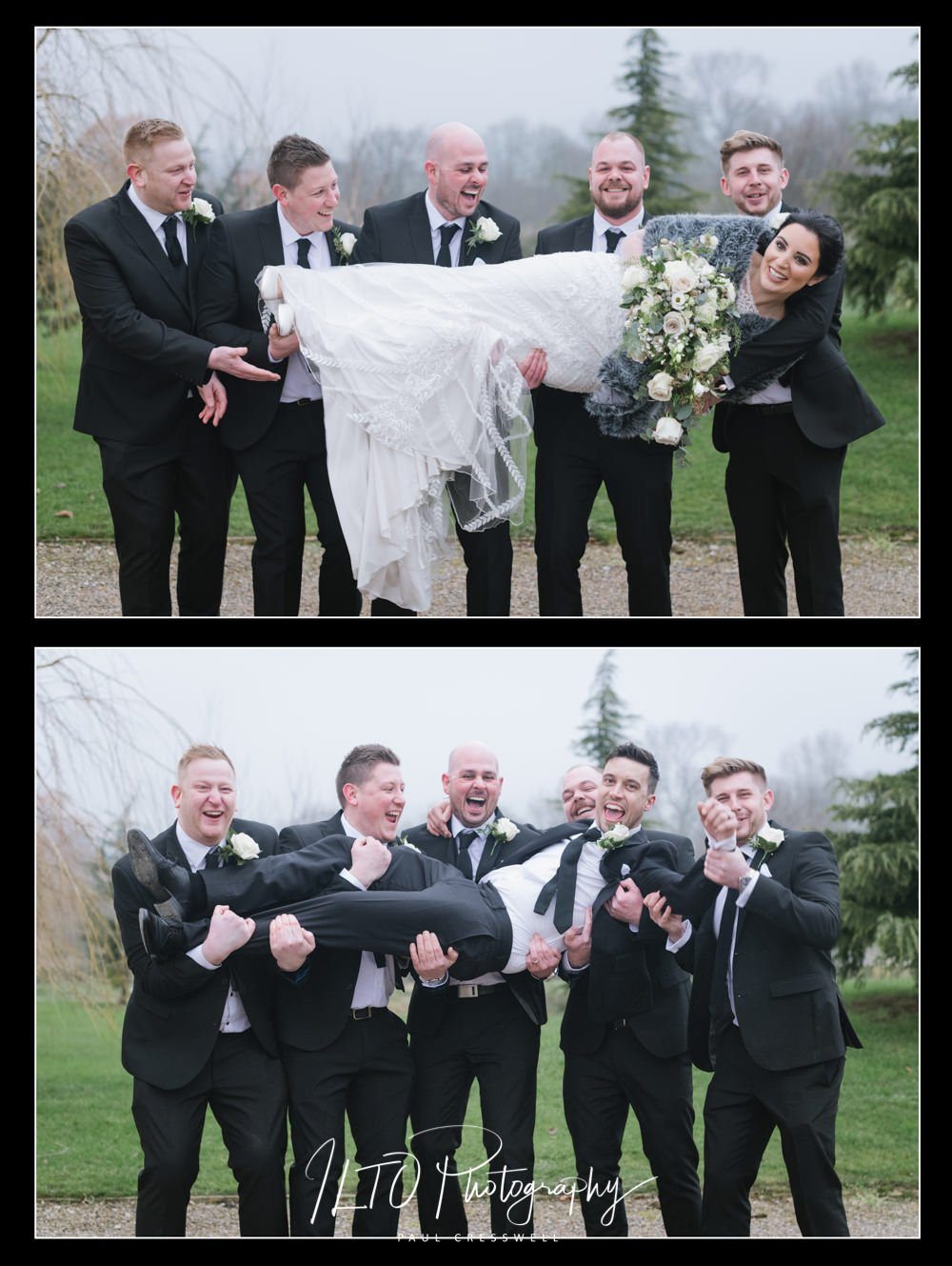 Funny and personal wedding photography.