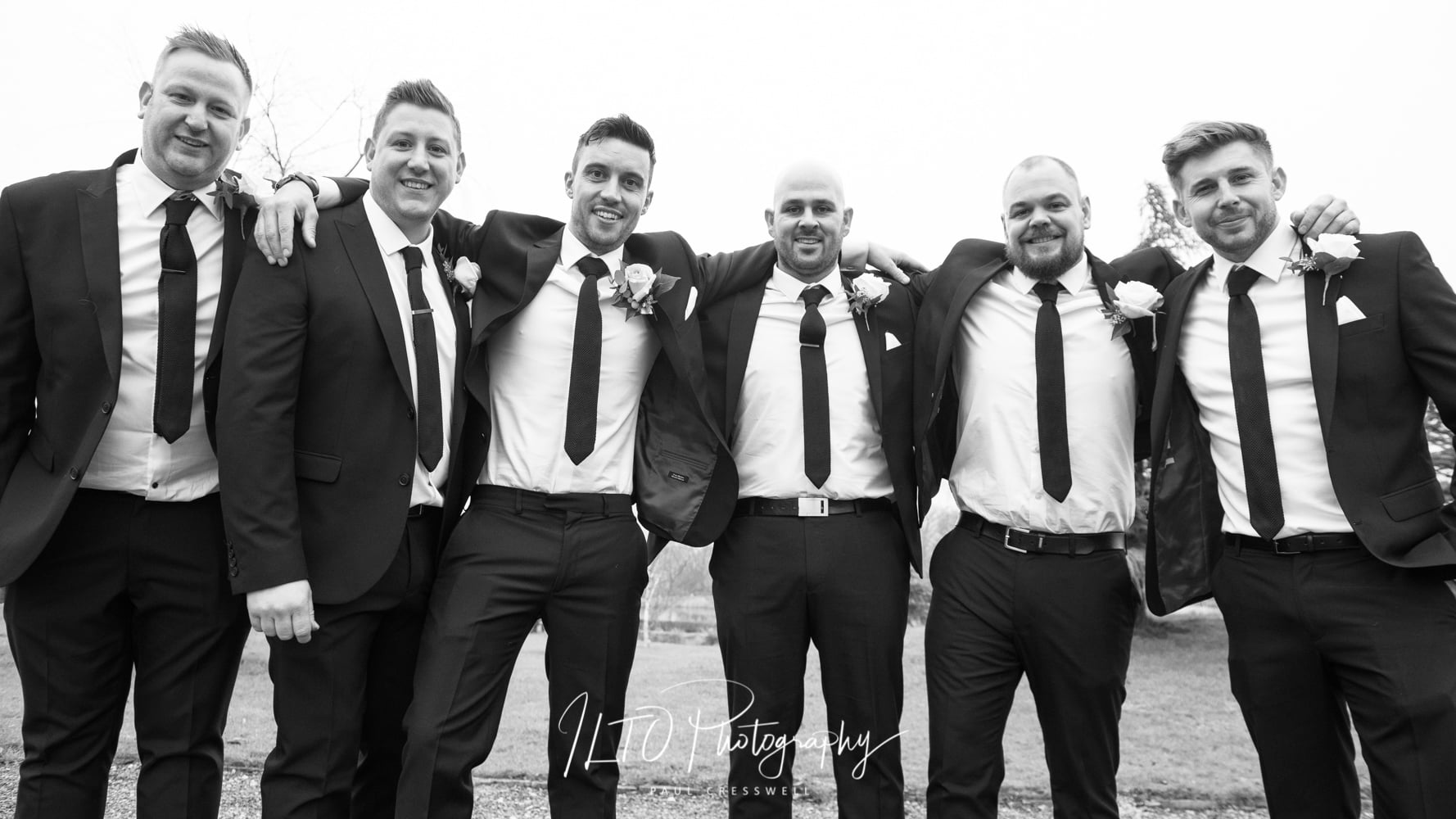 Classic wedding photography. Black and white.