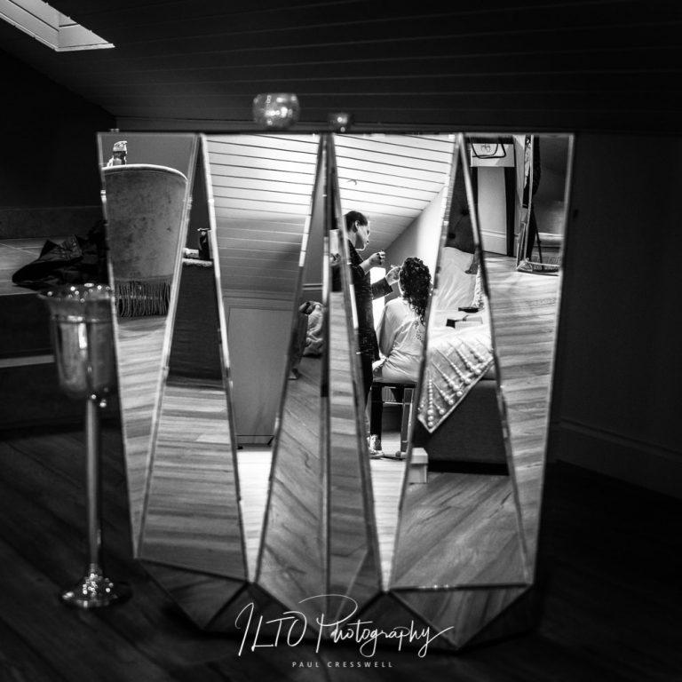 Bride Reflection - Creative wedding photography