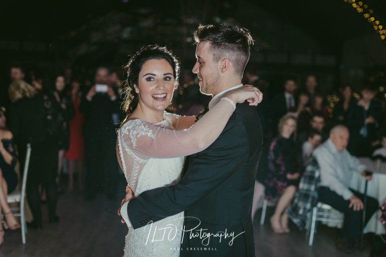 Wedding reception and first dance wedding photography. Yorkshire wedding photographer.