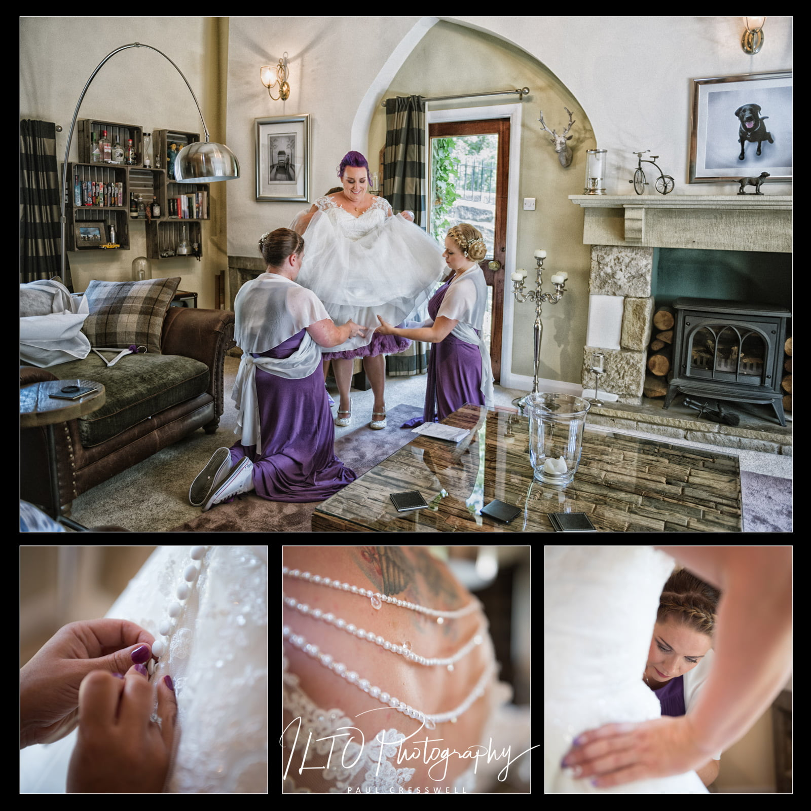 Wedding photography portfolio Yorkshire, Leeds, bridal photos