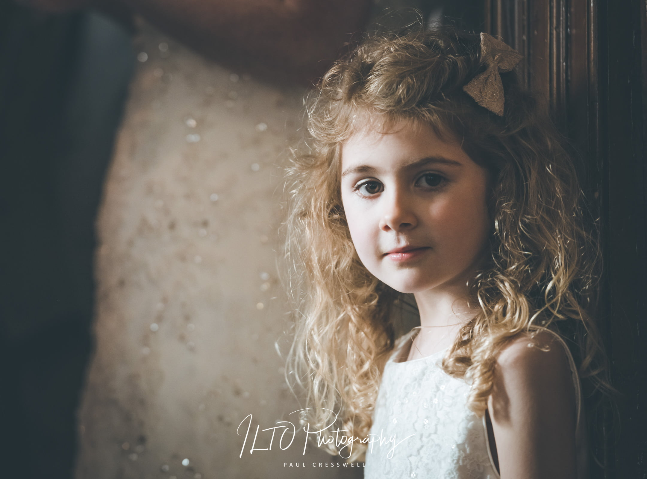 stunning wedding photos Wakefield young girl with curly hair