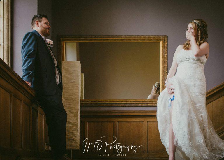 funny wedding photos yorkshire bride and garter