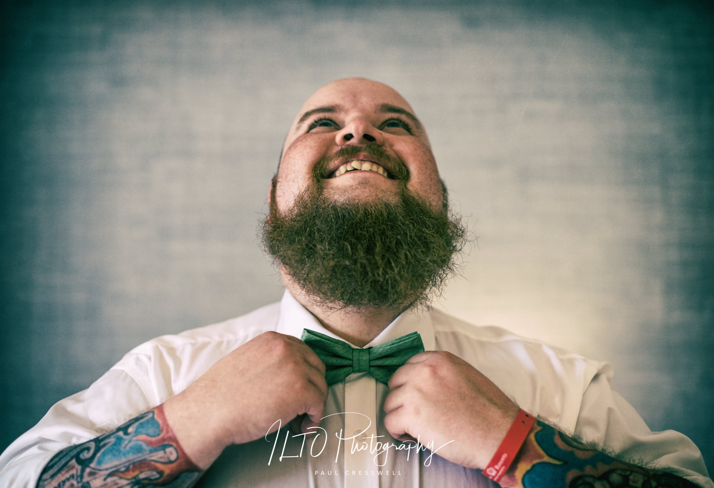 creative wedding photo wakefield wedding photographer bow tie