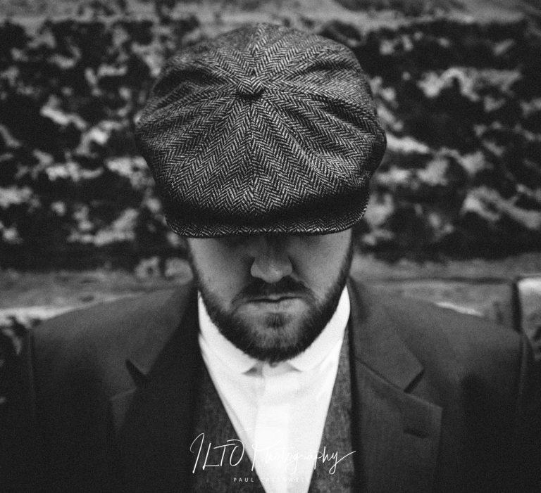 Peaky blinder theme, wedding photos, yorkshire