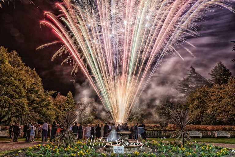 wedding fireworks Leeds wedding photographer