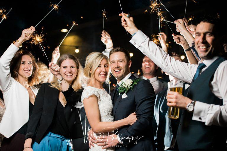 Wedding Portfolio, sparklers, Yorkshire wedding photographer