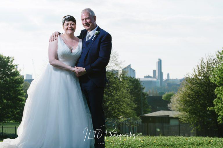 Wedding Portfolio, Leeds Skyline in the background