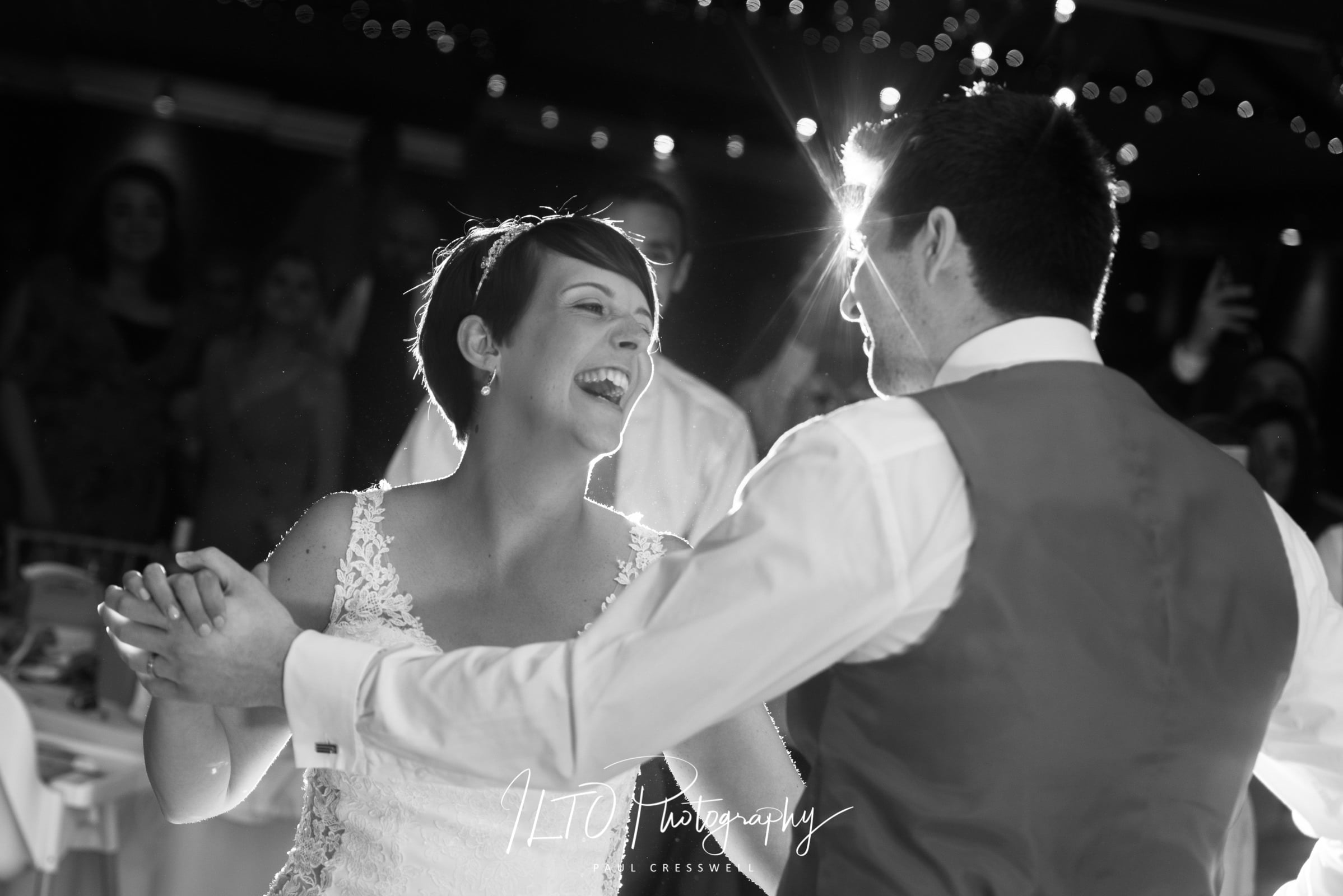 black and white photos first dance leeds wedding photographer yorkshire