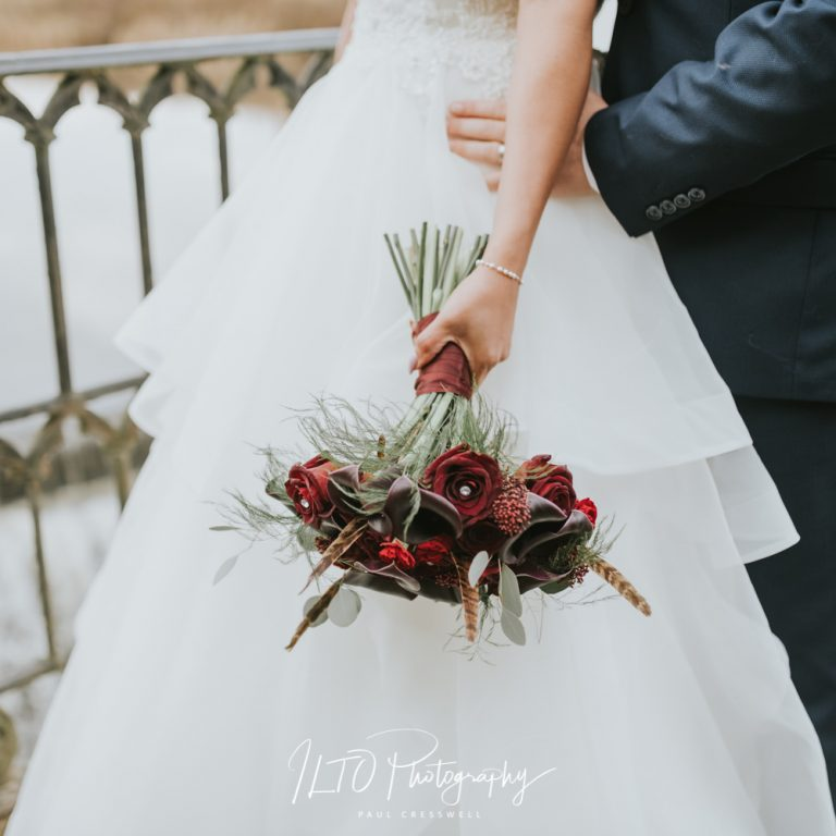 Winter bridal bouquet, Yorkshire Wedding Photographer