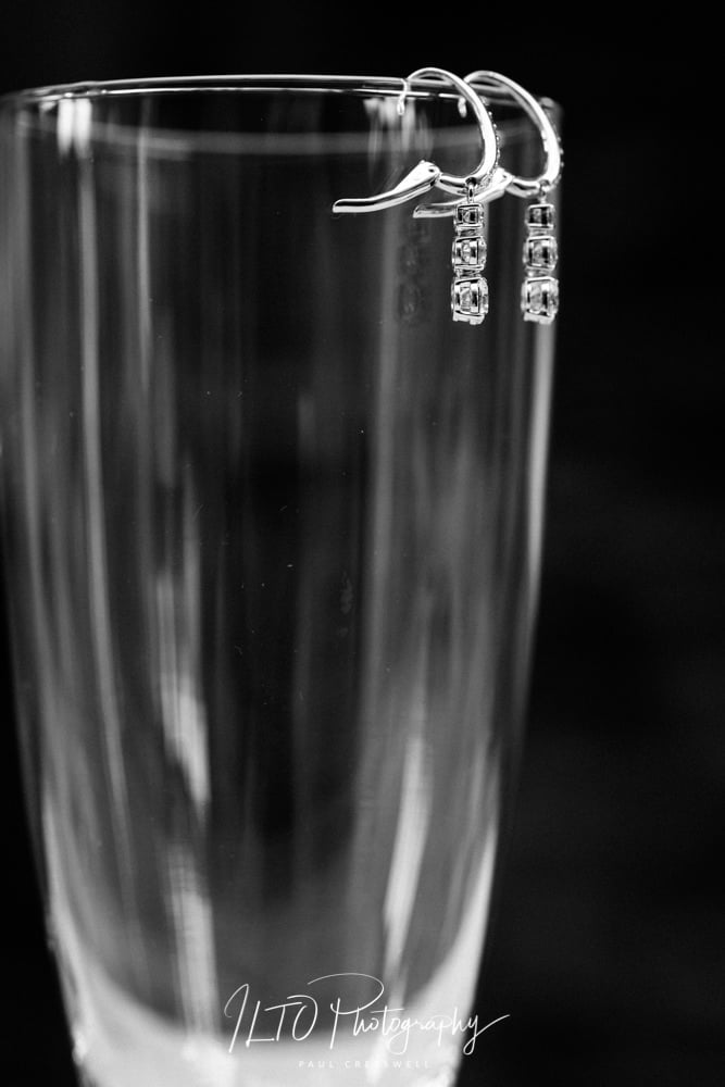 Earrings for brides, Yorkshire wedding photographer ILTO Photography