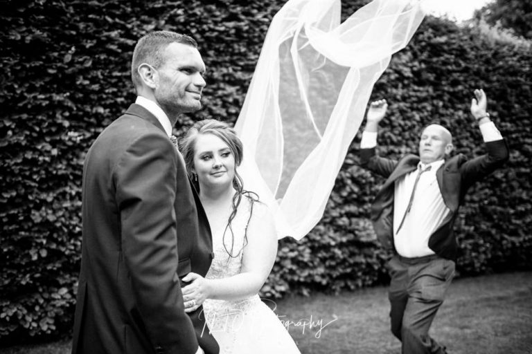 Veil toss wedding photography, west yorkshire wedding photographer