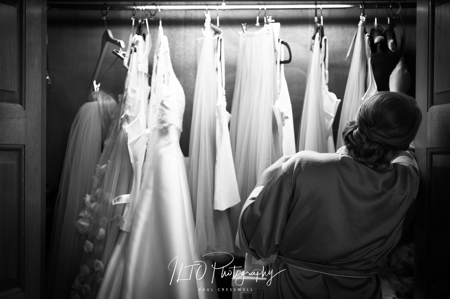 West Yorkshire Wedding Photographer, Black and white wedding dress ideas