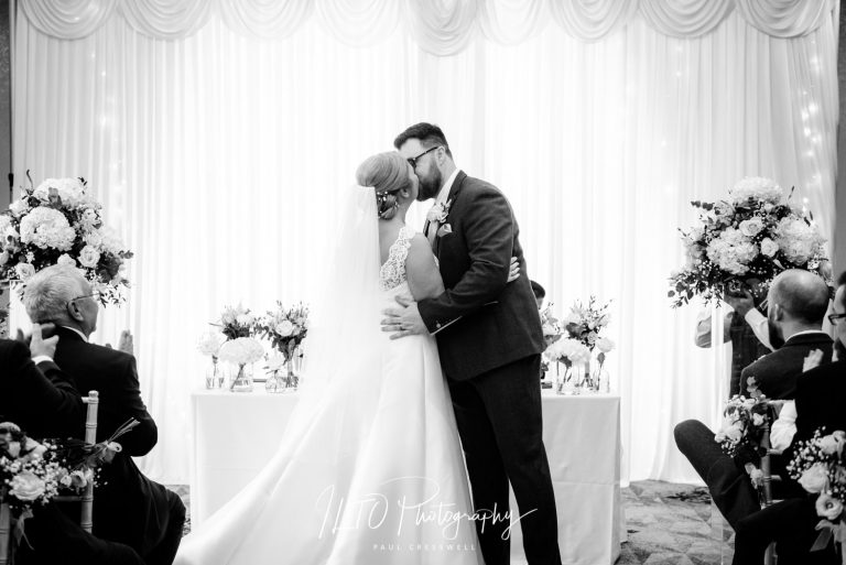 Black and white wedding photography Oulton Hall, Leeds Wedding Photographer