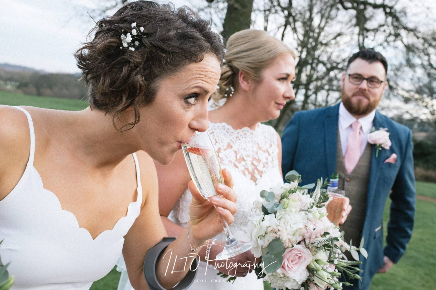 funny bridesmaid wedding photography ideas, ILTO Photography west Yorkshire wedding photographer