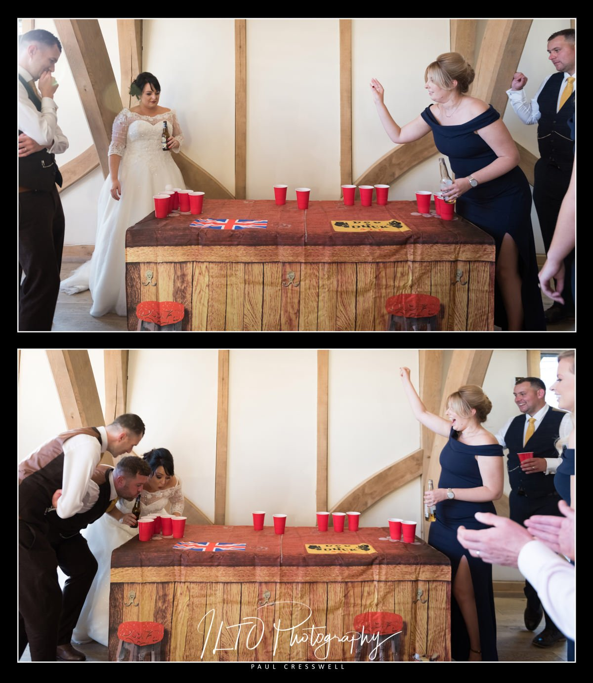 wedding Beer pong Creative wedding photographer ILTO Photography