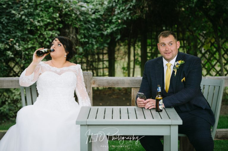 Natural funny wedding photography west yorkshire sandburn hall wedding