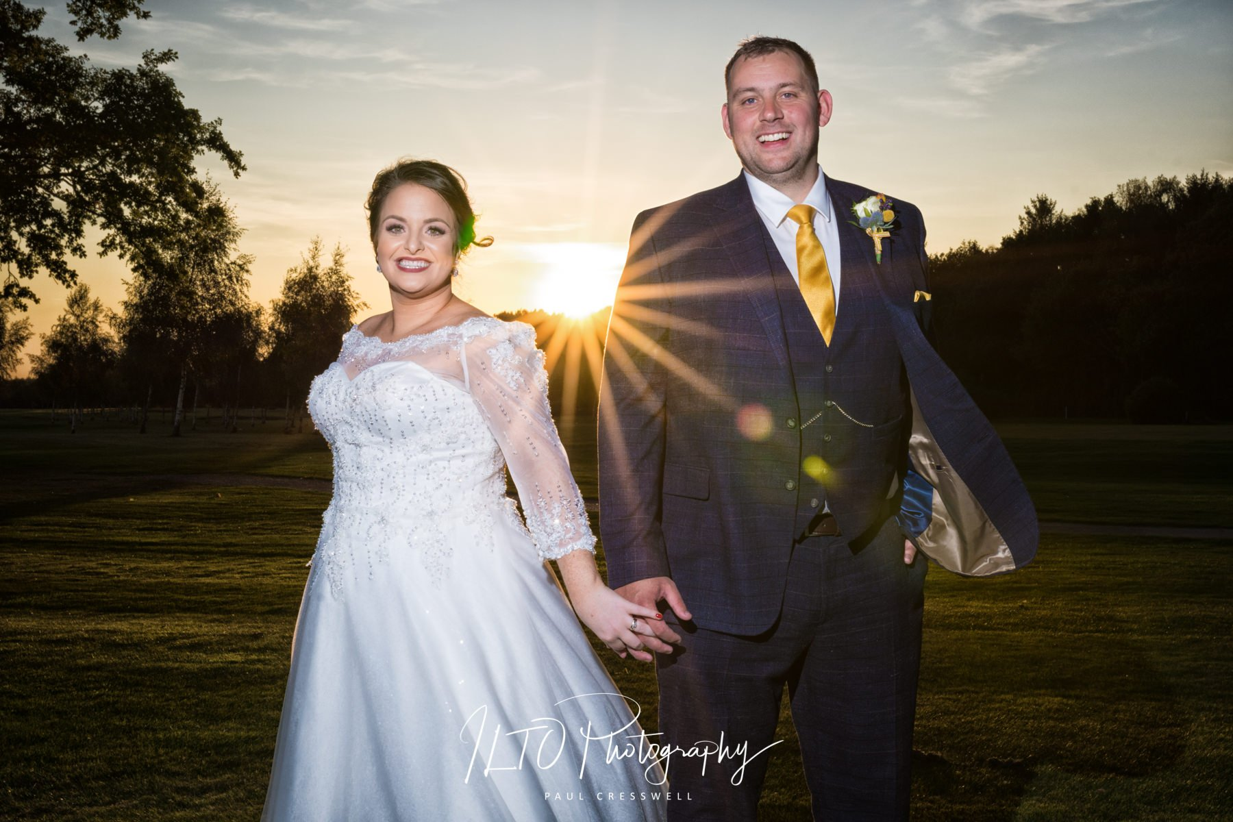 Sunset, Sandurn Hall wedding, wedding portfolio, west yorkshire wedding photographer