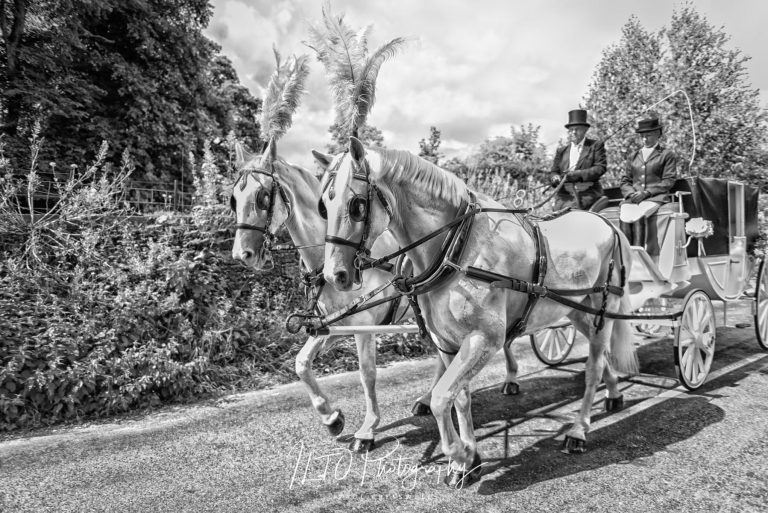Wedding horse and carriage ideas, Leeds wedding photographer
