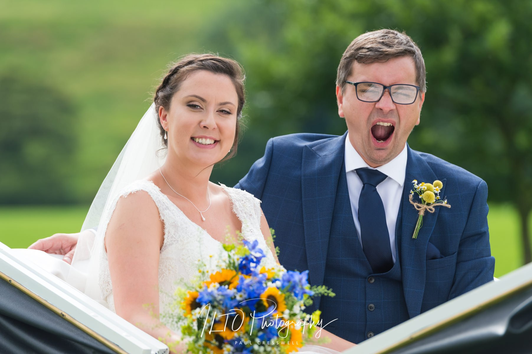 Funny natural wedding photography, wedding portfolio, west yorkshire wedding photographer