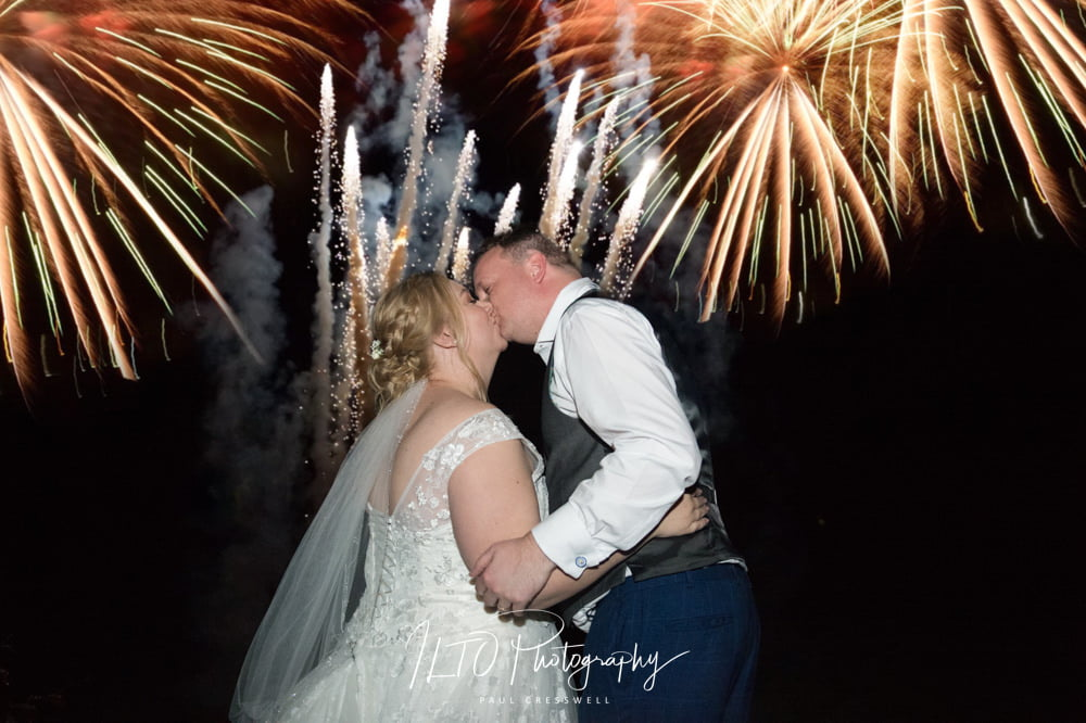 Wedding fireworks west yorkshire wedding photographer ILTO Photography bagden hall