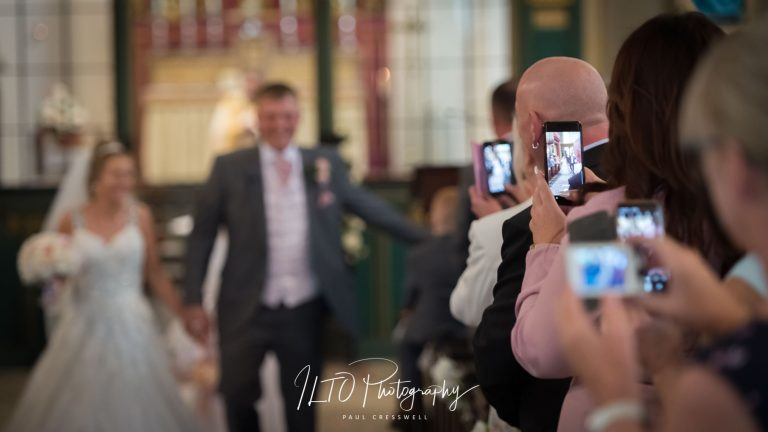 Mobile phones at wedding, Leeds Wedding Photographer