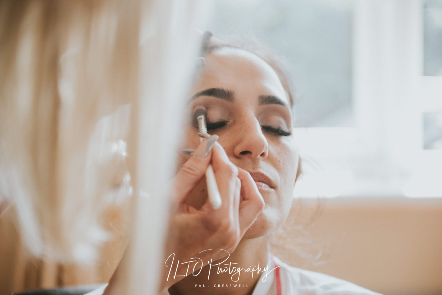 Bridal makeup, Wakefield Wedding Photographer, ILTO Photography