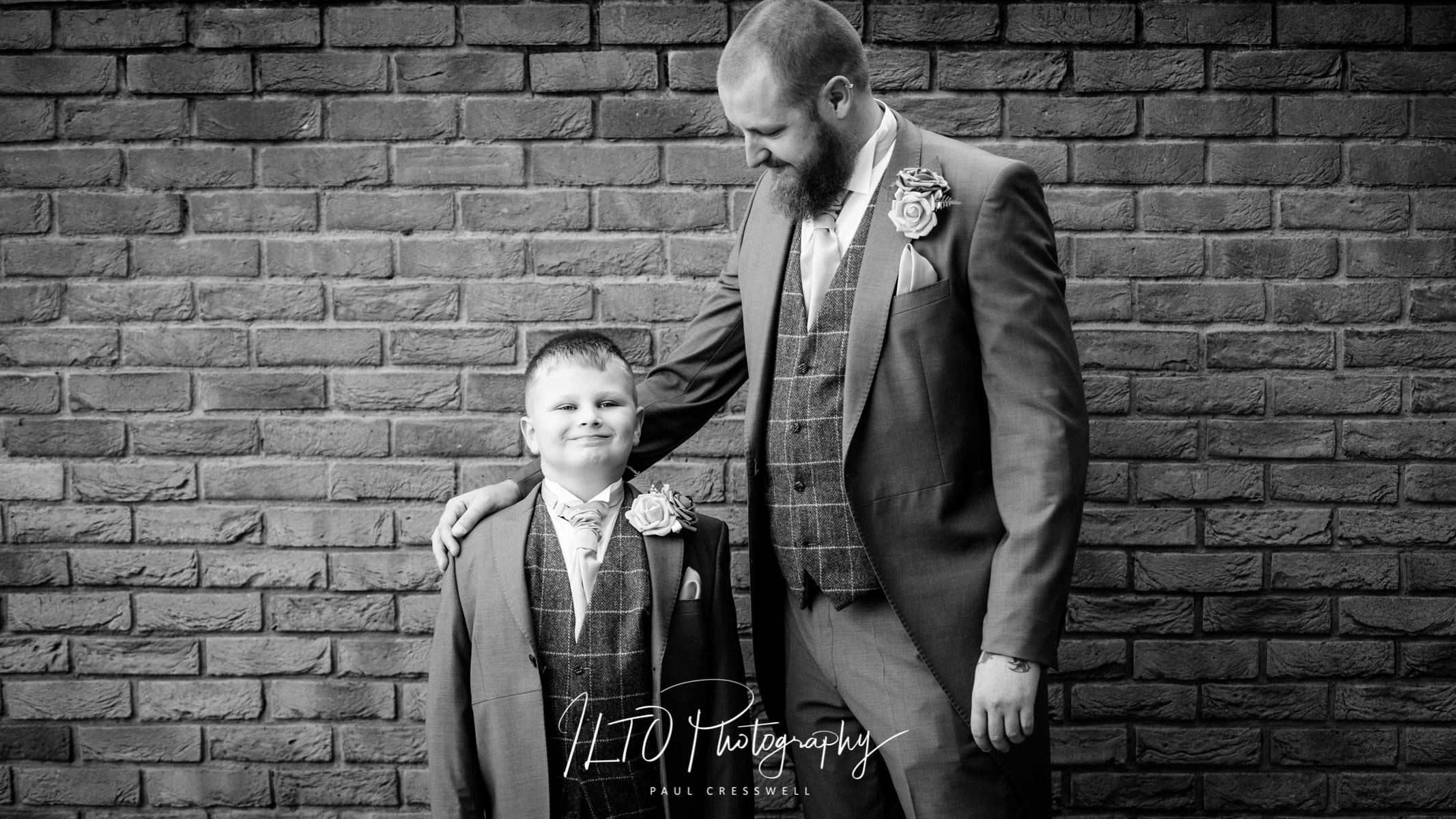 Father and son wedding photography