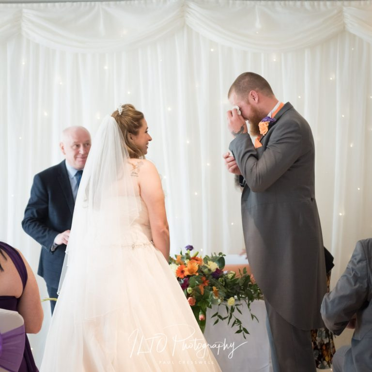 Groom crying at wedding, ILTO Photography