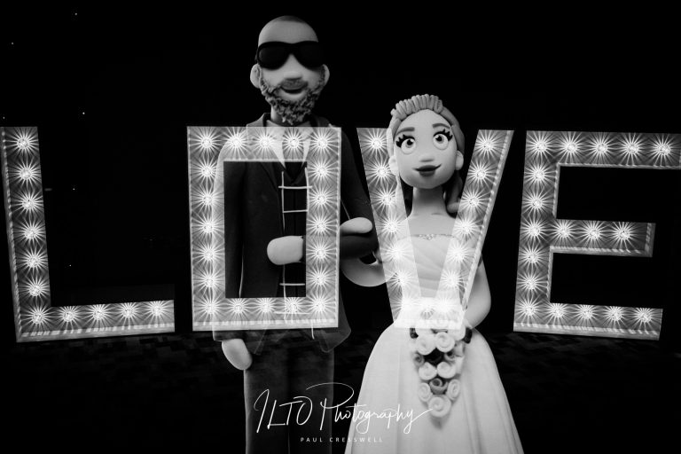Love sign and cake toppers wedding ideas