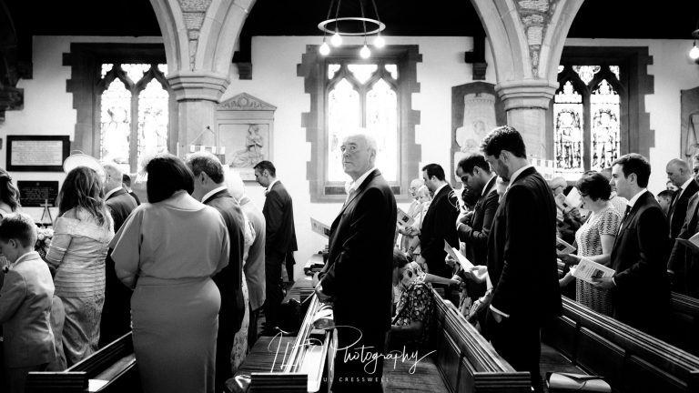 Guest in a church wedding