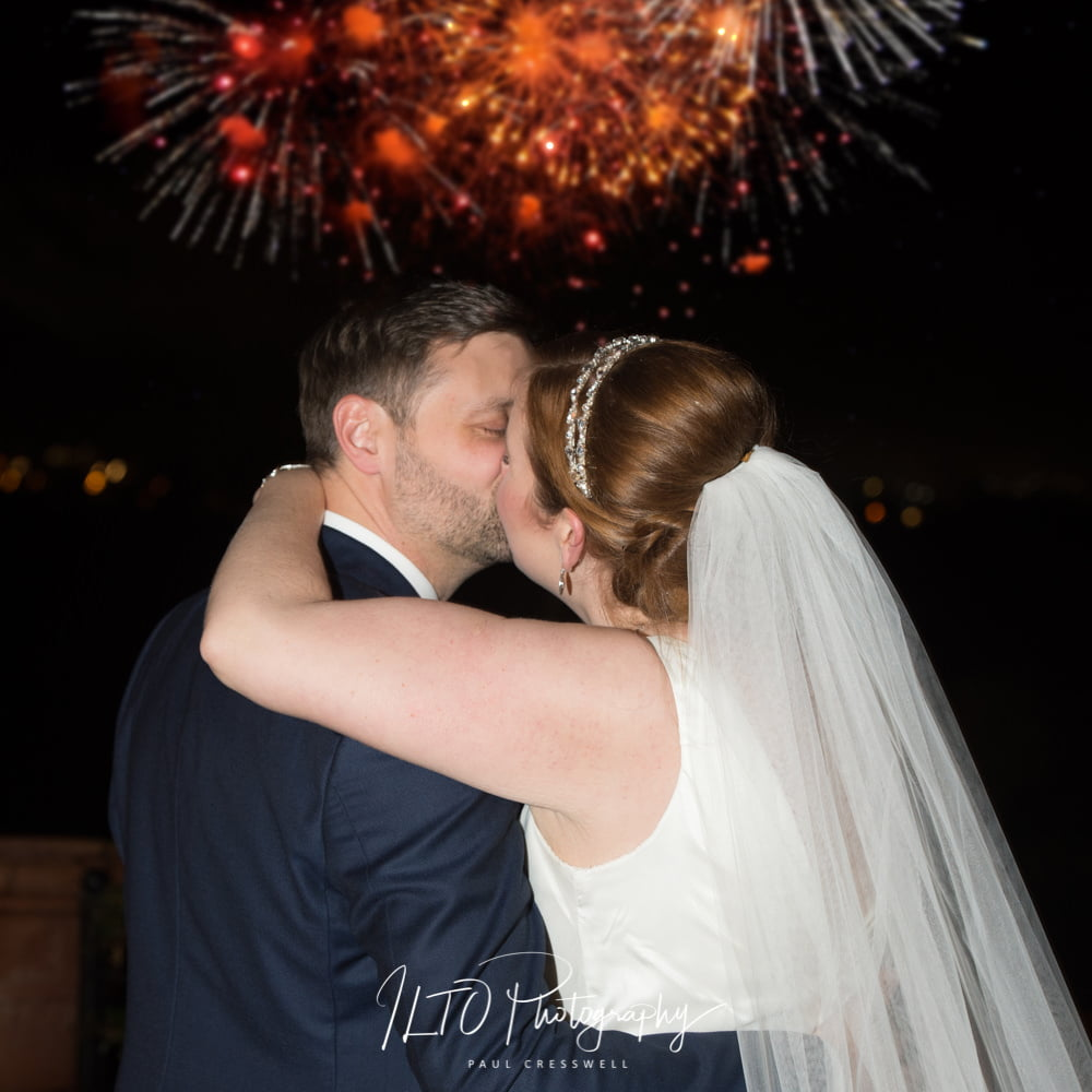 Wedding fireworks yorkshire wedding photographer wakefield