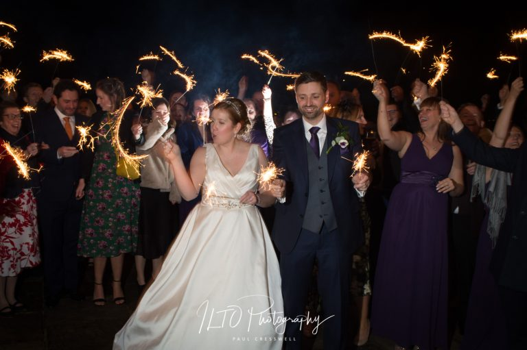 Sparklers for weddings, ILTO Photography, Yorkshire wedding photographer