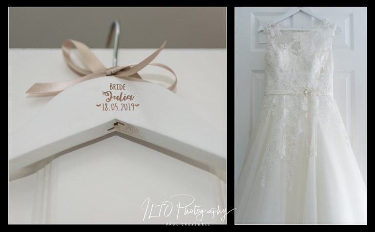 Personalised hangers for wedding dresses