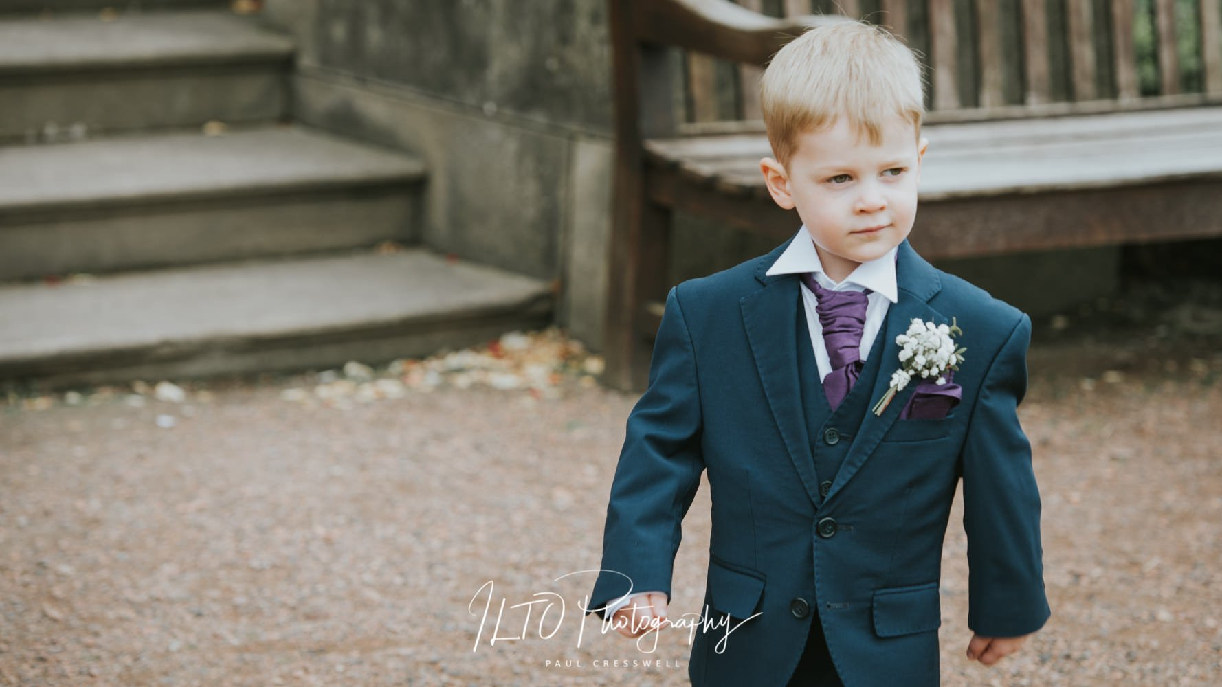 Suits for page boy wedding photographer