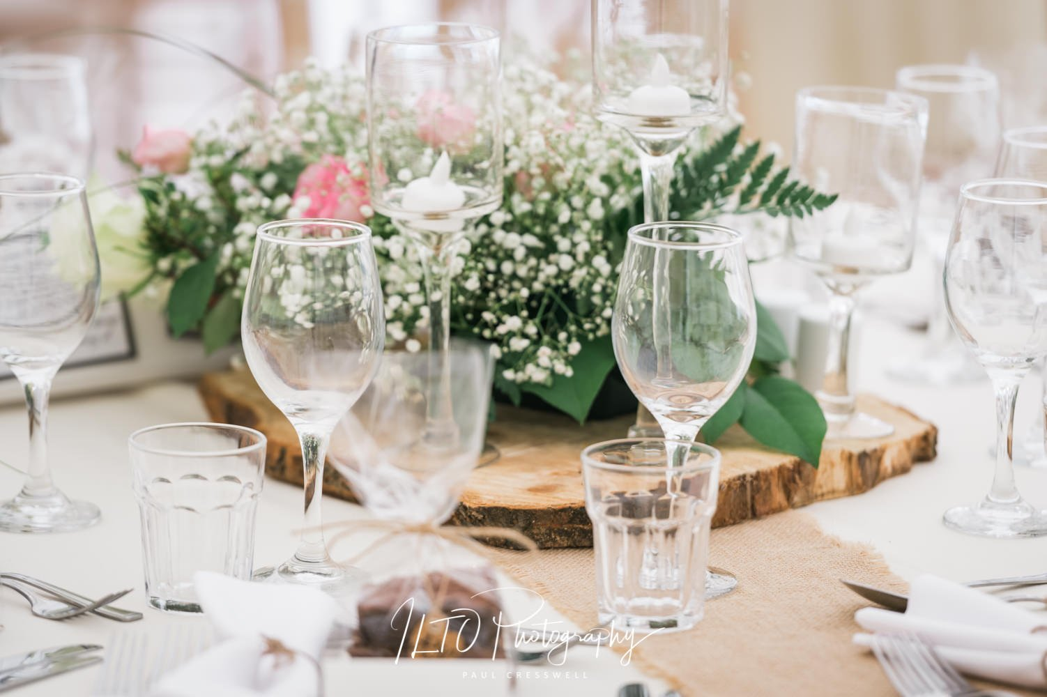 Table decorations for a wedding yorkshire wedding photographer