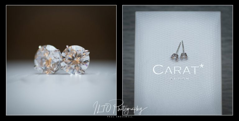 Wedding earring ideas for brides Yorkshire photographer