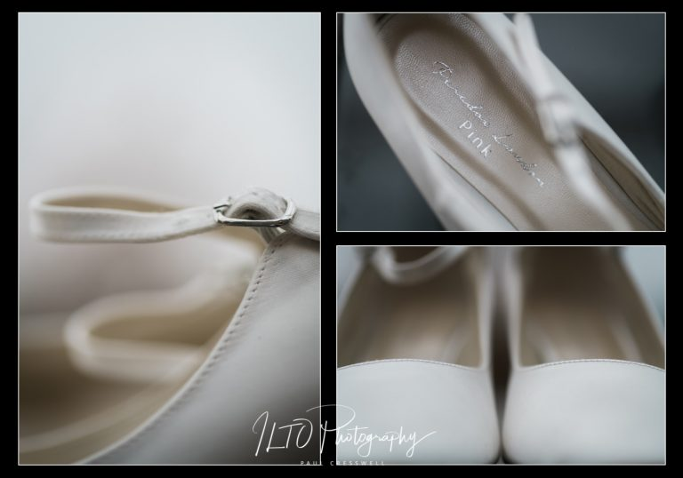 Bride shoes ideas wedding photographer yorkshire