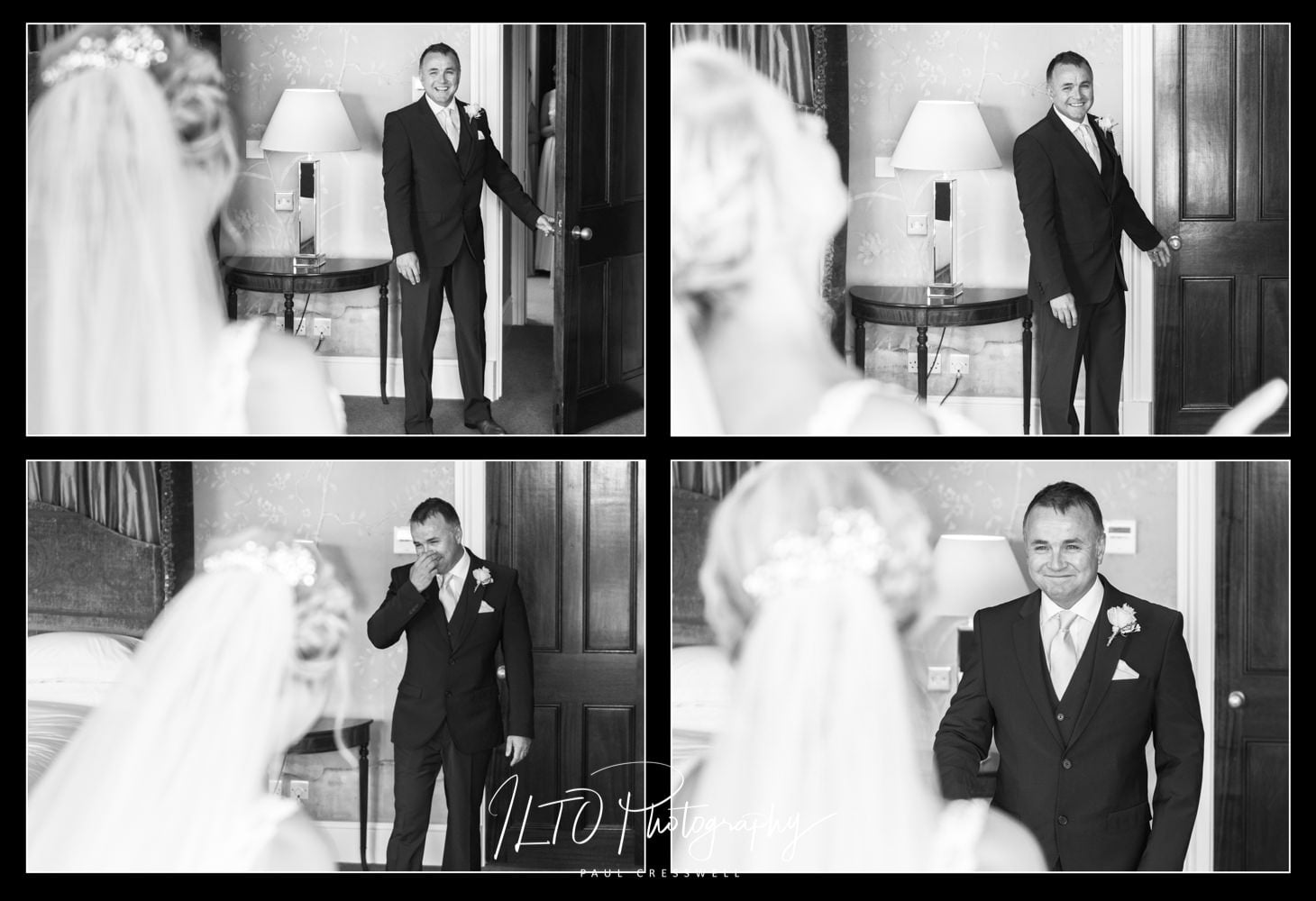 Elegant black and white wedding photography West Yorkshire ILTO