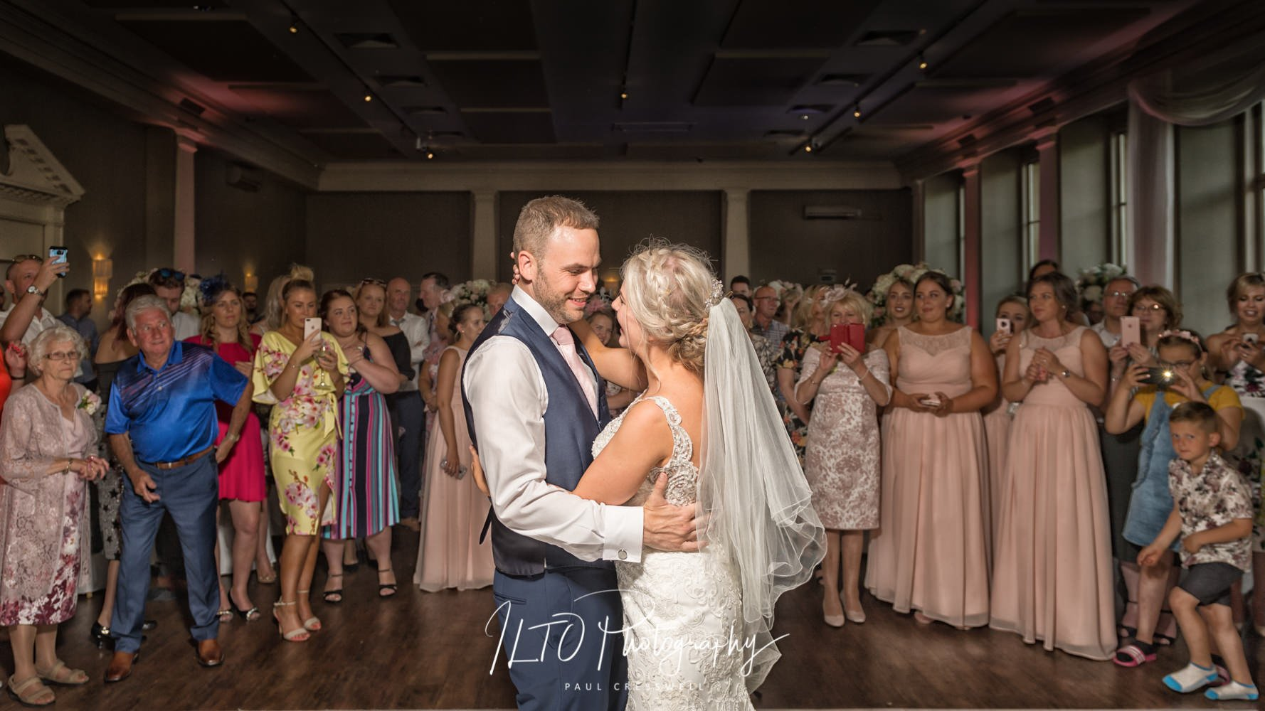 Stubton hall wedding first dance elegant Wakefield wedding photographer